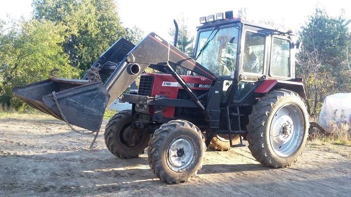 tracteur comme neuf 85hp cabine chuffage loader à vendre