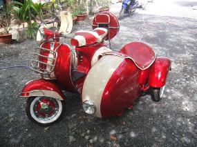 VESPA SIDE-CAR VBB150 année 1961