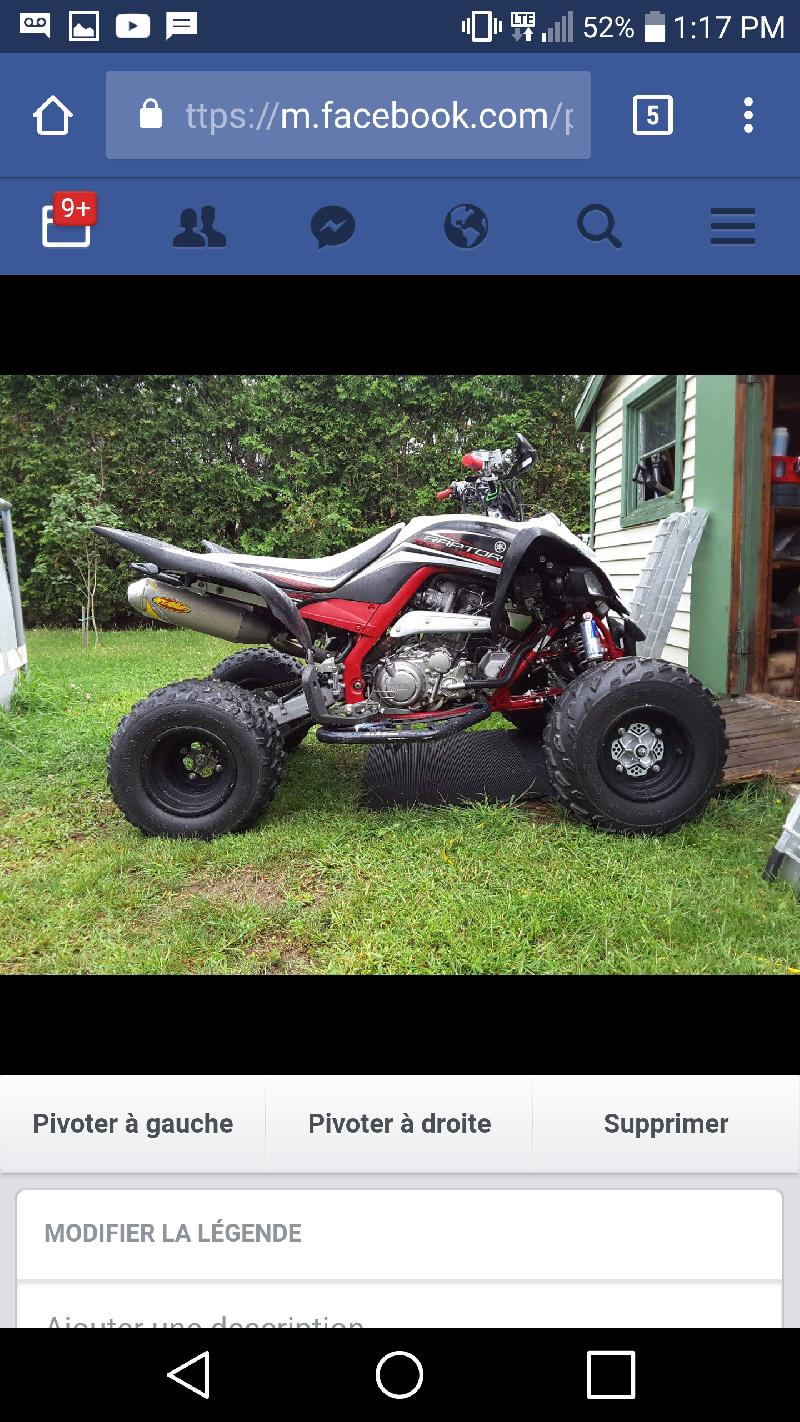 VTT Sport Yamaha Raptor 700R 2015 à vendre